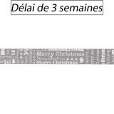 Ruban Panduro Design mery christmas gris - 26