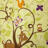 Tissu 50/70cm - animaux foret - 26