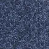 Tissu coton 50/70cm blue tropic - 26