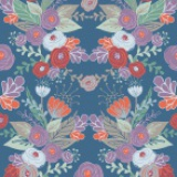 Coupon Panduro Design 50x70 cm kurbits flower blue - 26