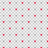 Coupon Panduro Design 50x70 cm grey hearts - 26