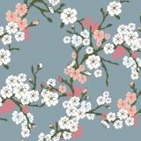 Tissu Panduro Design 140 cm cherryflower gre - 26