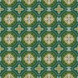 Tissu panduro design morocco green - 26