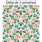 Tissu panduro design mistle & birds - 26