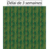 Tissu panduro design green twigs - 26