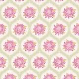 Tissu tilda x 1m mumflower ornament lilac - 26