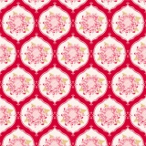 Tissu tilda x 1m mumflower red - 26
