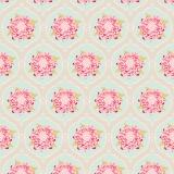 Tissu tilda x 1m mumflower teal - 26
