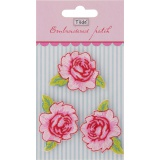 Applique rose /3 pc - 26