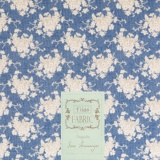 Coupon Tilda 50x55 cm white flower blue - 26