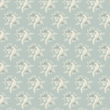 Tissu tilda x 1m bird blue grey - 26