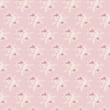 Tissu tilda x 1m bird pink - 26