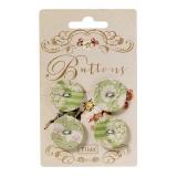 Boutons en tissu Tilda apple bloom grands - 26
