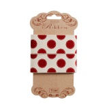 Ruban Tilda sewn spot red 30 mm - 26