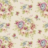 Tissu Tilda 50x55 cm garden flowers dove white - 26