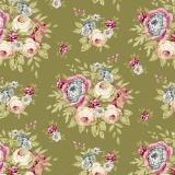 Tissu Tilda 50x55 cm garden flowers green - 26