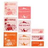 Etiquettes textile tilda cabbage rose 3 couleurs e - 26