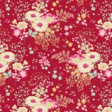 Tissu tilda 110 cm lucille red - 1 mètre  - 26