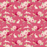 Tissu tilda 110 cm rabbit & roses pink 5 mètres - 26