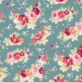 Tissu tilda 110 cm flowercloud teal 5 mètres - 26