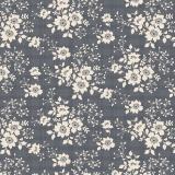 Tissu tilda 110 cm libby dark slate - 1 mètre  - 26