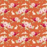 Tissu tilda 50x55 rabbit & roses ginger  - 26