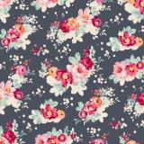 Tissu tilda 50x55 flowercloud dslate  - 26