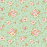 Tissu tilda 5m x 110 cm rosa mollis teal - 26