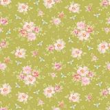 Tissu tilda 1m x 110 cm rosa mollis green - 26