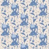 Tissu tilda 1m x 110 cm circus life blue - 26