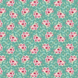 Tissu tilda 1m x 110 cm clown flower teal - 26