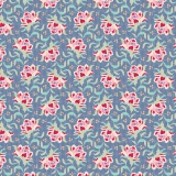 Tissu tilda 110 cm x 5 m clown flower blue - 26