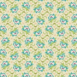 Tissu tilda 110 cm x 5 m clown flower green - 26