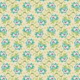 Tissu tilda 110 cm x 5 m clown flower green - 26