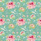 Tissu tilda 110 cm x 5 m circus rose teal - 26