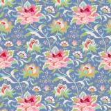 Tissu tilda 110 cm x 5 m circus rose blue - 26