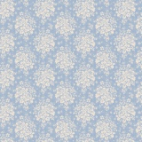 Tissu tilda 1m x 110 cm summer picnic blue - 26