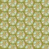 Tissu 50x55 cm flower nest green  - 26