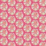 Tissu 50x55 cm flower nest pink   - 26