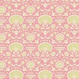 Tissu 50x55 cm garden bees pink   - 26