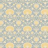 Tissu 50x55 cm garden bees blue   - 26