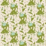 Tissu tilda 50x55 cm circus life green - 26