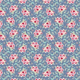 Tissu tilda 50x55 cm clown flower blue - 26