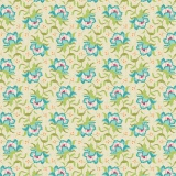 Tissu tilda 50x55 cm clown flower green - 26