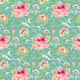 Tissu tilda 50x55 cm circus rose teal - 26