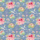 Tissu tilda 50x55 cm circus rose blue - 26