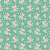 Tissu tilda 50x55 cm first kiss teal - 26