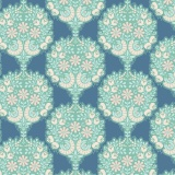 Tissu tilda 1m x 110cm flower tree blue - 26