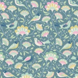 Tissu tilda 5m x 110 cm bird tree blue - 26