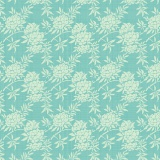 Tissu tilda 1m x 110cm flower bush teal - 26